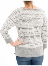 Contrast Split Hem Knit Top Light Grey - Gallery Image 3