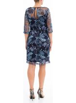 Embellished Mesh Midi Dress Blue - Gallery Image 3