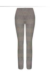 Narrow Leg Stretch Check Trousers
