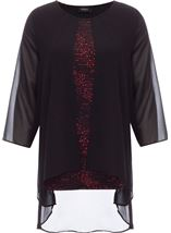 Chiffon Layered Sparkle Top