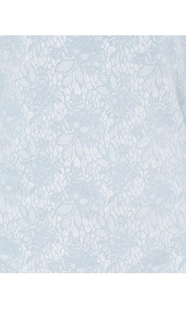 Anna Rose Lace Print Cowl Neck Top Soft Blue - Gallery Image 4