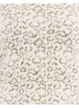 Animal Printed Long Sleeve Feather Knit Top Cream/Gold - Gallery Image 4