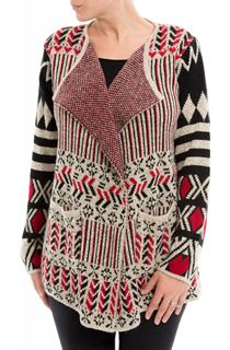 Patterned Open Cardigan