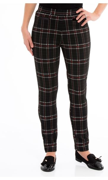 Checked Stretch Trousers Multi - Gallery Image 2