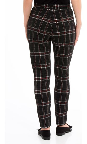 Checked Stretch Trousers Multi - Gallery Image 3