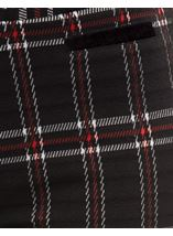 Checked Stretch Trousers Black/Red - Gallery Image 4