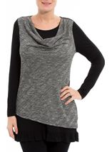 Jersey And Knit Layered Tunic
