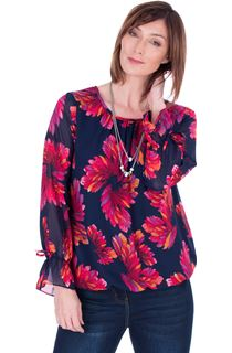 Georgette Printed Round Neck Top