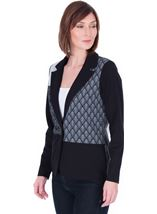 Patchwork Stretch Jacket Black/Grey - Gallery Image 1