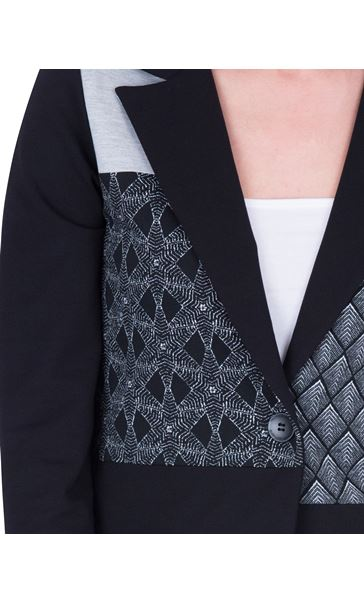 Patchwork Stretch Jacket Black/Grey - Gallery Image 3