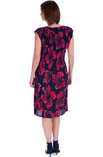 Floral Print Pleated Sleeveless Midi Dress