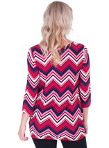 Zig Zag Printed Tunic Navy/Pink - Gallery Image 2