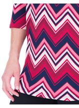 Zig Zag Printed Tunic Navy/Pink - Gallery Image 3
