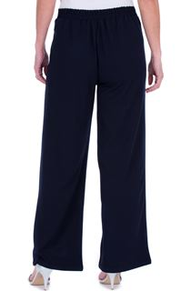 Wide Leg Pull On Trousers - Blue