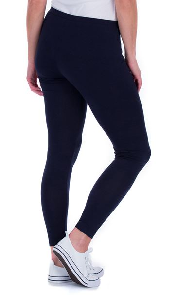 Full Length Jersey Leggings - Blue
