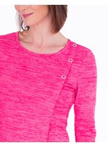 Knitted Eyelet Trim Top Pink - Gallery Image 3