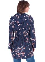Floral Printed Lightweight Coat Navy Floral - Gallery Image 2