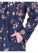 Floral Printed Lightweight Coat Navy Floral - Gallery Image 3