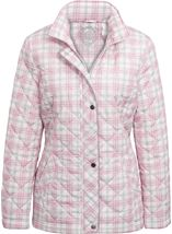 Anna Rose Check Quilted Coat Quartz Pink - Gallery Image 1
