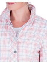 Anna Rose Check Quilted Coat Quartz Pink - Gallery Image 4