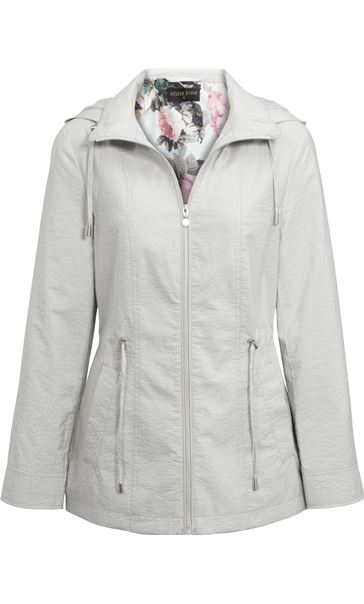 Anna Rose Lightweight Coat Chalk - Gallery Image 1