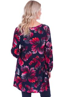 Long Sleeve Printed Jersey Tunic