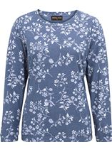 Anna Rose Floral Printed Long Sleeve Top Blue/White - Gallery Image 1