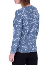 Anna Rose Floral Printed Long Sleeve Top Blue/White - Gallery Image 3