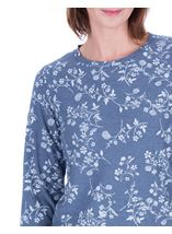 Anna Rose Floral Printed Long Sleeve Top Blue/White - Gallery Image 4