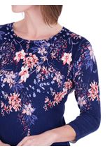 Anna Rose Embellished Floral Knit Top Midnight/Multi - Gallery Image 4
