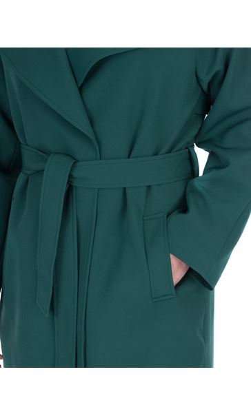 Belted Trench Coat Green - Gallery Image 3