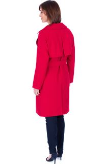 Belted Trench Coat - Red