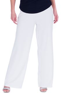 Wide Leg Pull On Trousers - Ivory
