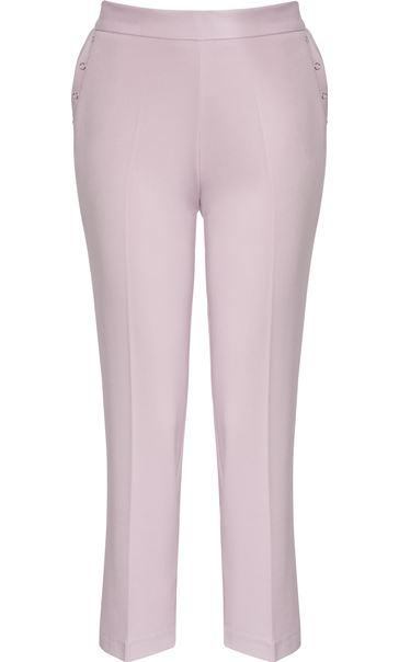Anna Rose Straight Leg Trousers 27 Inch Pink