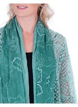 Long Sleeve Open Front Drape Cardigan Green - Gallery Image 3