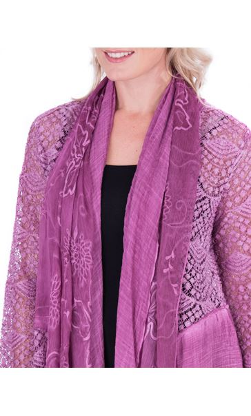 Long Sleeve Open Front Drape Cardigan Heather - Gallery Image 3