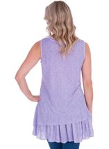 Lace Panel Layered Sleeveless Top Lilac - Gallery Image 2