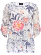 Anna Rose Printed Layered Top Navy/Coral - Gallery Image 1