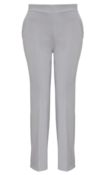 Anna Rose Straight Leg Trousers 29 Inch - Soft Grey