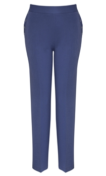 Anna Rose Straight Leg Trousers 29 Inch - Blue 1