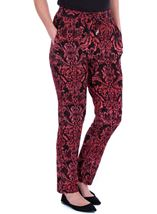 Printed Jersey Tapered Trousers