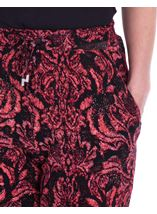 Printed Jersey Tapered Trousers Red/Black - Gallery Image 3