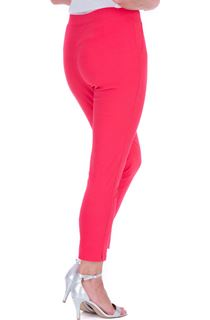Fitted Pull On Cropped Stretch Trousers - Pink