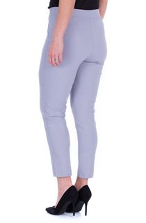 Fitted Pull On Cropped Stretch Trousers - Light Grey