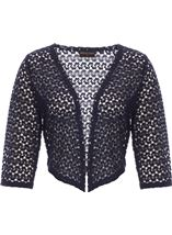 Anna Rose Crochet Cover Up Navy - Gallery Image 1