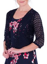 Anna Rose Crochet Cover Up Navy - Gallery Image 2