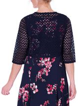 Anna Rose Crochet Cover Up Navy - Gallery Image 3