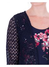 Anna Rose Crochet Cover Up Navy - Gallery Image 4