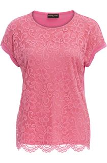 Anna Rose Lace And Jersey Top - Confetti Pink