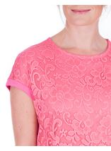 Anna Rose Lace And Jersey Top Confetti Pink - Gallery Image 4